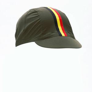 サイクルキャップ ベルギーライン  ハイストレッチ オリーブ kpcap091
