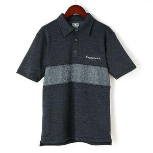 半袖ドライポロシャツ  クラックプリント チャコール kphs1021